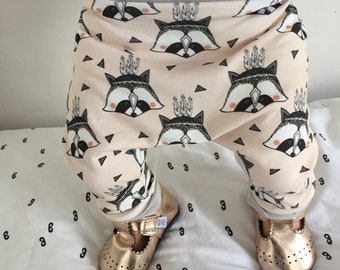harem pants, RACCOONS, Organic Harems, Baby Harems, Girl Harems, Harem Pants, Harlem Pants, Organic Harems, Organic Baby Harems, Baby Pants