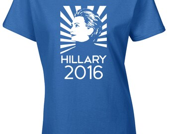 HILLARY CLINTON For PRESIDENT 2016  Ladies Junior Fit Tee Shirt 1117