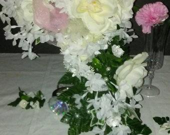 Silk Cascading Bridal Bouquet