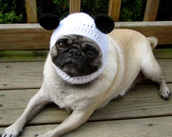 Dog Hat - Panda Bear Hat/ Made To Order