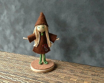Forest Elf Bendy Doll Kit - makes two elves