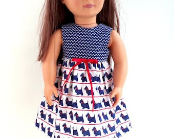 """Scotty Dogs Dolls Dress To Fit 18"""" Doll"""