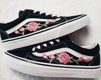 vans with flowers embroidered nz