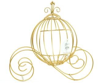 "Cinderella Princess Carriage Card Holder Gold - 13"""