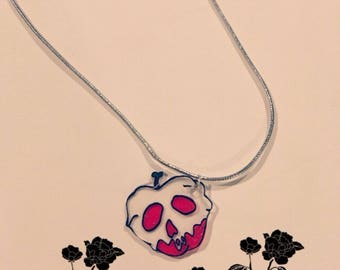 Snow white poisoned apple necklace