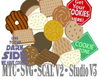 SVG Cut File Cookies Scout Snack Embellishment Cut Files MTC SvG SCAL Silhouette Cricut