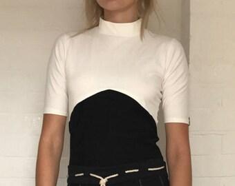 High neck Hemp t'shirt   womens fashion   sustainability   eco friendly   Organic cotton   soft hemp fabric