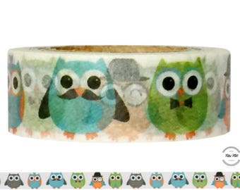 Washi Tape OWLS turquoise