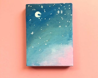 "Mini canvas original painting: ""First"""