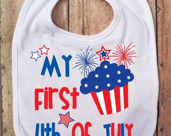 Premier Bib quart de juillet - Fête de l'indépendance - 4 juillet