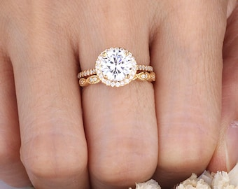 2 piece wedding ring Etsy