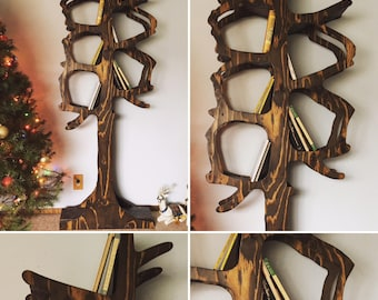 7' Handmade Tree Bookshelf Perfect for Your Home or Business!