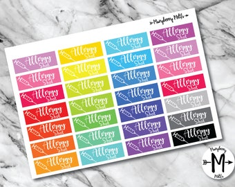Allergy Shot Reminder Stickers for Planners or Calendars