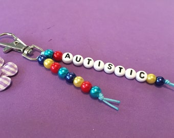 Autistic Key Ring, Handmade Autism Awareness Charm