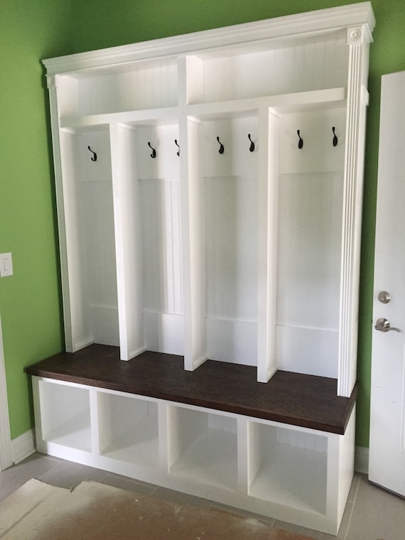 Entryway locker mudroom locker - Adding character to your hallway with a hall tree ...