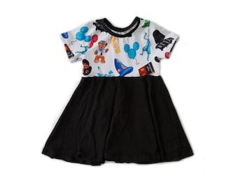 Mickey Mouse Disneyland Icon Twirl Dress
