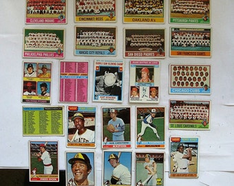 These 23 (G or better cond)  MAJOR League Baseball cards. All are Topps brand 1976 Cards.  see description