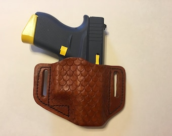 Custom Leather dragon scale HOLSTER for GLOCK 43
