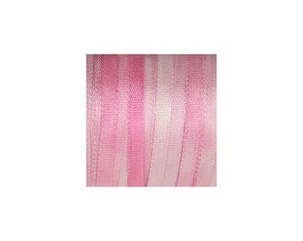 100% Pure Silk Ribbon 2mm Pink Embroidery Hand Dyed 3.28yd/ 3mtr Fine Narrow Thin