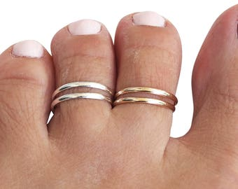 Sterling Silver Triple Band Toe Ring kIldRdmjs