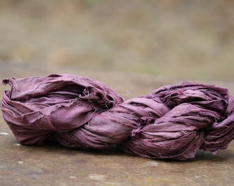 Recycled Sari silk ribbon - Oh My 121