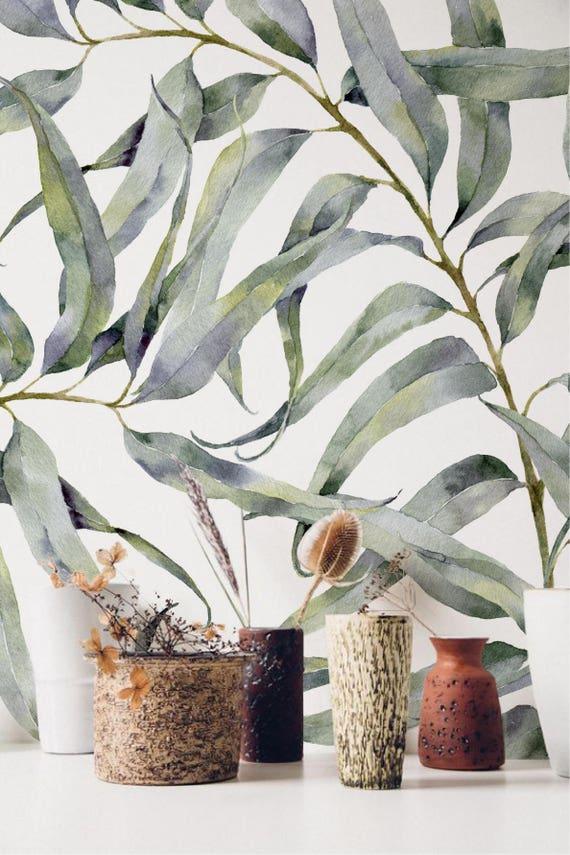 Captivating Eucalyptus Blad Verwisselbare Behang Jungle Tijdelijke Behang, Huurders  Vriendelijk Behang, Peel En Stick Muur Sticker Voor Appartementen Ideas