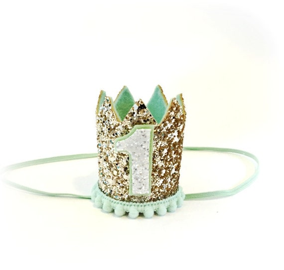 Animal Crown ||  Pet Birthday Party Hat || Animal Party || Pet Animal Photo Prop || Pale Gold + Mint