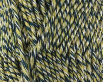 Chunky Melody Lake Front Green Yellow Wool Blend Yarn Bulky 100g/skein