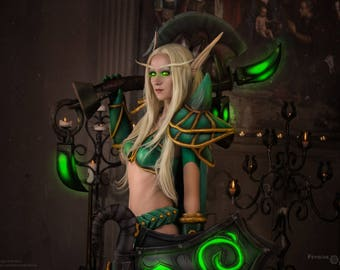 Cosplay print. Blood elf Paladin, phooshoot inspired by World of Warcraft.