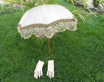 Victorian umbrella Victorian gloves vintagevintage Antiques
