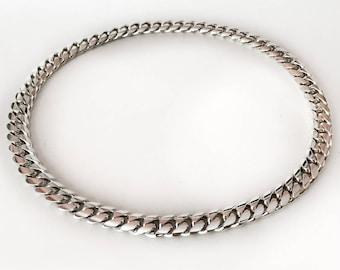 "12 mm solid Miami Cuban link Fine .999 silver necklace NO CLASP handmade 28"""