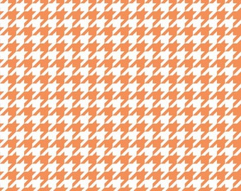 Medium Houndstooth in Orange by Riley Blake  - you pick the cut