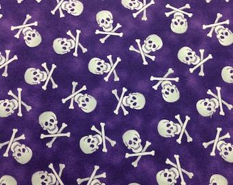 Quilting Treasures Fabric Pirates & Indians Violet Bkg 1 Yard