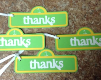 Sesame Street Thank You Tags