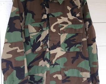 Vintage Army Military Camo Jacket