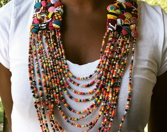 Beaded handmade necklace