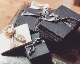 Handmade paper from  Prague (black stationery sets)