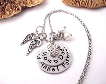 Parents Memorial Jewelry, Parents Memorial Bracelet, My Parents My Angels, Parents Bereavement, Loss of Parents, Parents Loss