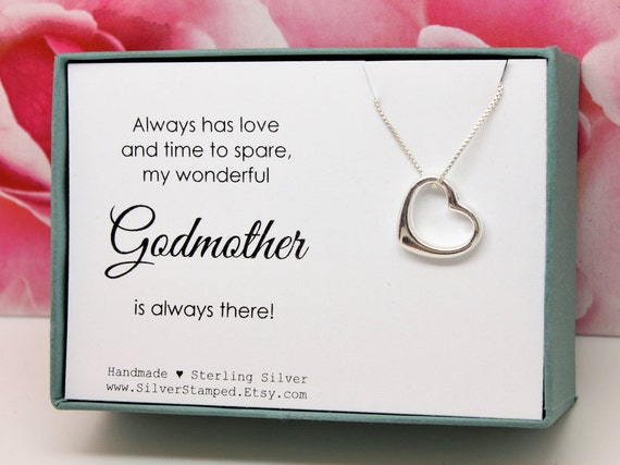 Gift For Godmother Baptism Gift From Godchild Sterling Silver