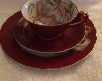 Vintage Royal Sealy China Trio | Teacup Saucer Dessert Plate | Collectible China