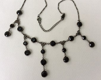Bellagio USA Black Crystal Necklace