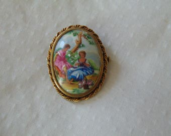 vintage Limoges brooch pin from france