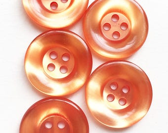 eco friendly shiny moon glow thick rimmed buttons--matching lot of 5