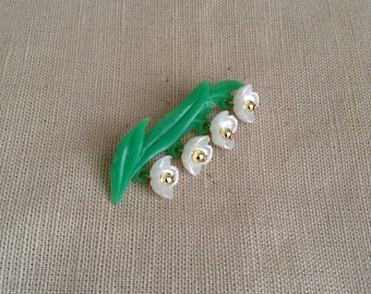 """1960's """"sprig of Lily of the valley """"."""