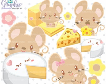 Mouse Clipart, Mice Clipart, COMMERCIAL USE, Digital Clipart, Kawaii Clipart, Mouse Party, Planner Accessories, Digital Scrapbook