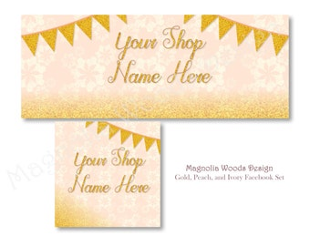 Pink and Gold Facebook Cover Photo, Facebook Business Timeline Set, Facebook Timeline, Facebook Profile, Facebook Image Set, Digital Files