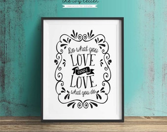 Printable Quote, Motivational Wall Decor, 10x8, 5x7, 4x6 Print, Printable Art, Quote Print, Inspirational Wall Art Quote, Love Print