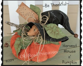 Mouse Pattern Be Thankful Harvest Mouse n' Pumpkin Fall Pattern