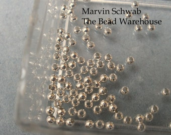 Sterling Silver Beads 2mm 2 mm Round Spacer Heavy Wall 100 pc