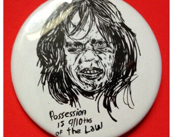 Regan from The Exorcist 2.25 Inch Button or Bottle Opener